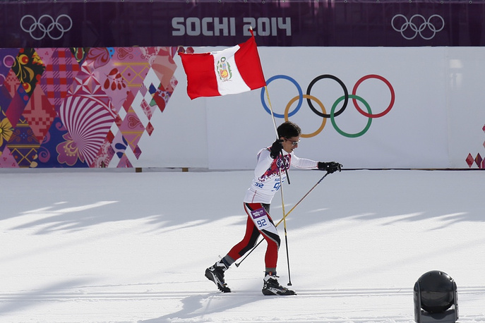 Peru's Olympic debut happened in 2010 in Vancouver. In Sochi the third largest country of South America is represented by three athletes in two events. Photo: cross-country skier Roberto Carcelen