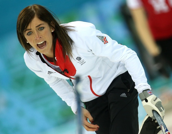 Eve Muirhead (23) of the UK