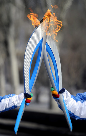 Paralympic torch relay in Volgograd