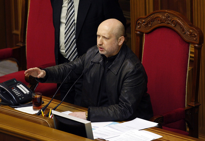 Parliament-appointed acting President Oleksandr Turchynov