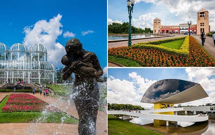 Curitiba is the capital and largest city of the Brazilian state of Parana. The name means 'pine place' referring to a species widely spread here