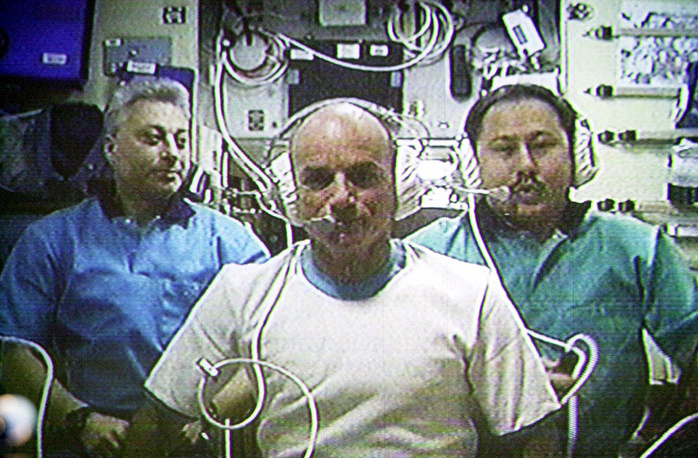 Dennis Tito was the first space tourist at the International Space Station (ISS). He was brought to the station on a Soyuz TM-32 on April 28 2001, and he was there till May 6. During the space flight Tito was a system operator.