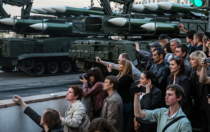 Victory Day parade rehearsal in Moscow