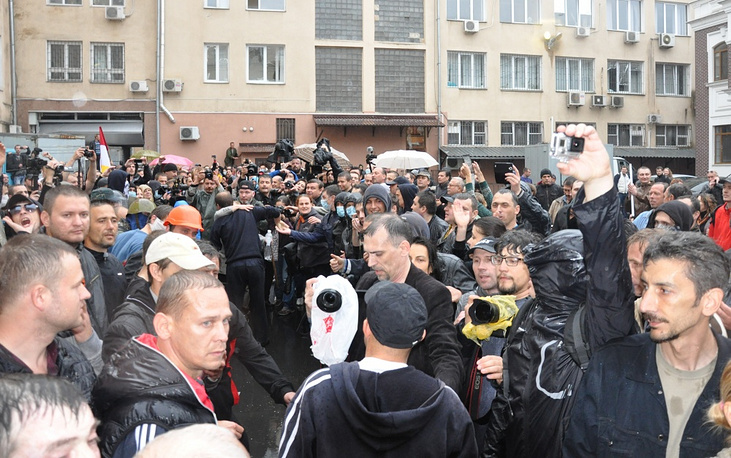 42 protesters were brought by investigative authorities of Odessa to a pretrial detention facility in one of Ukraine's central regions