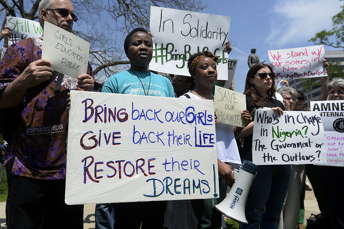 Demonstration in support of the abducted girls in Washington DC, USA