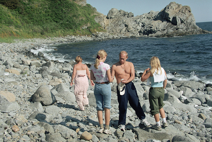 Vladimir Putin has two daughters, Maria and Yekaterina, from his ex-wife Lyudmila. Photo: Vladimir Putin with his family on vacation in Russia's Far East