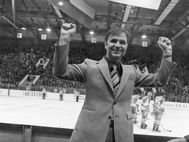 Viktor Tikhonov was the coach of the Soviet team when it was the most dominant team in the world, winning world cups in 1978, 1979, 1981, 1982, 1983, 1986, 1989, 1990. Tikhonov is in the IIHF Hall of Fame