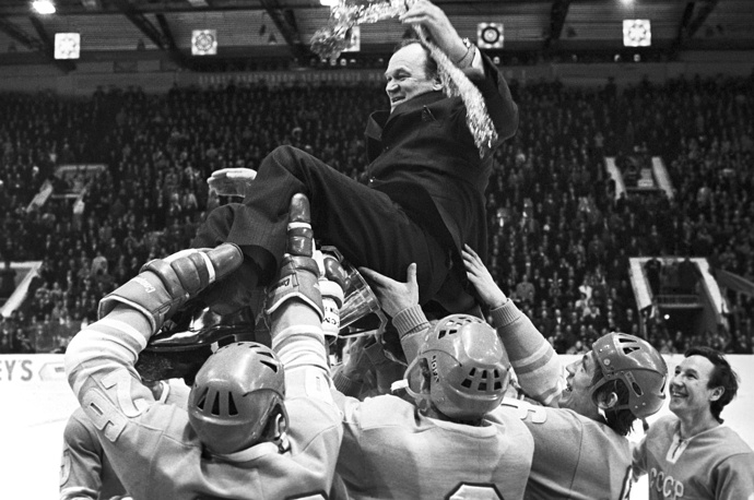 Vsevolod Bobrov coached the USSR in the 1972 Summit Series and then led them to the World Championship in 1974 and 1975