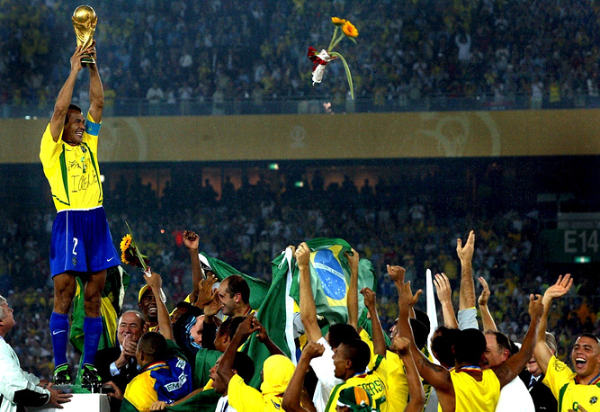 2002 FIFA World Cup was held in South Korea and Japan. This time Brazil defeated Germany 2-0 in the Final, winning its fifth World Cup title