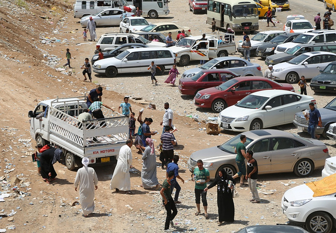 Mosul's citizents flee to Erbil