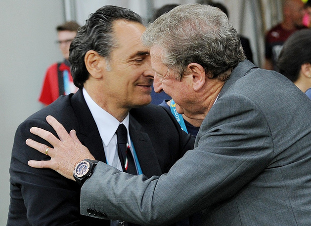 Italy coach Cesare Prandelli (left) and England's Roy Hodgson