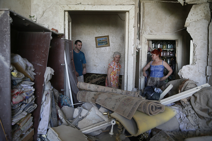Destructions in Kramatorsk