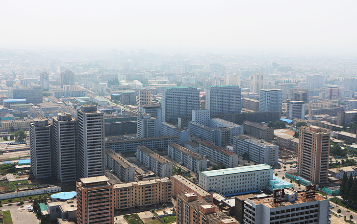 Pyongyang from the highest viewing point in the city