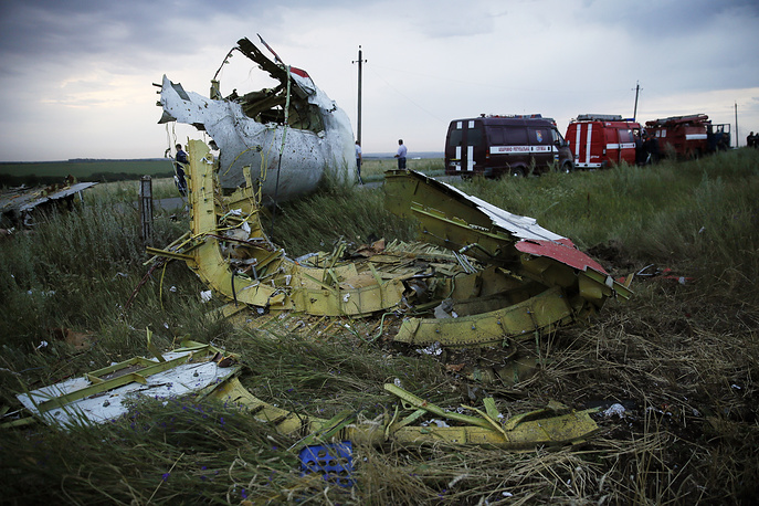 Site of the crash 60 kiloneters from the Russian border