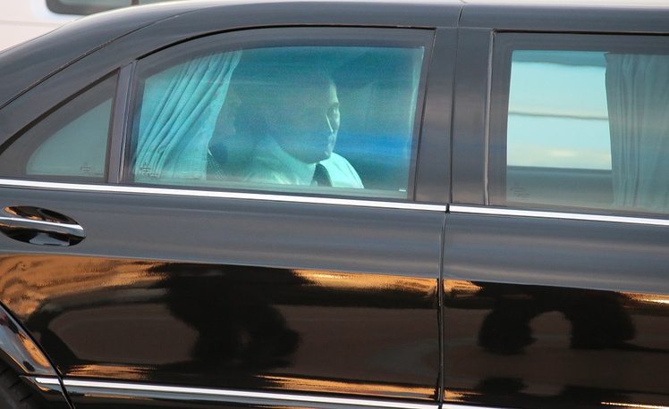 Russian current President Vladimir Putin is driven in a Mercedes S600 Pullman Guard (W-221)