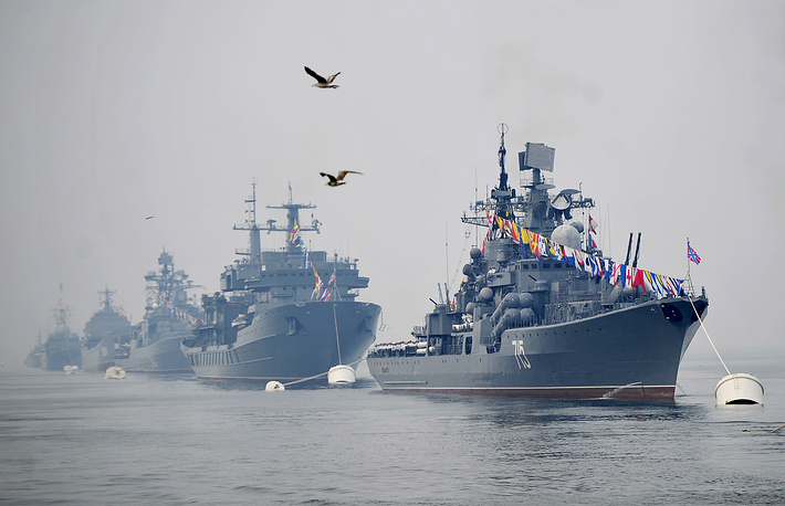 Russian Navy Day parade rehearsal in Vladivostok