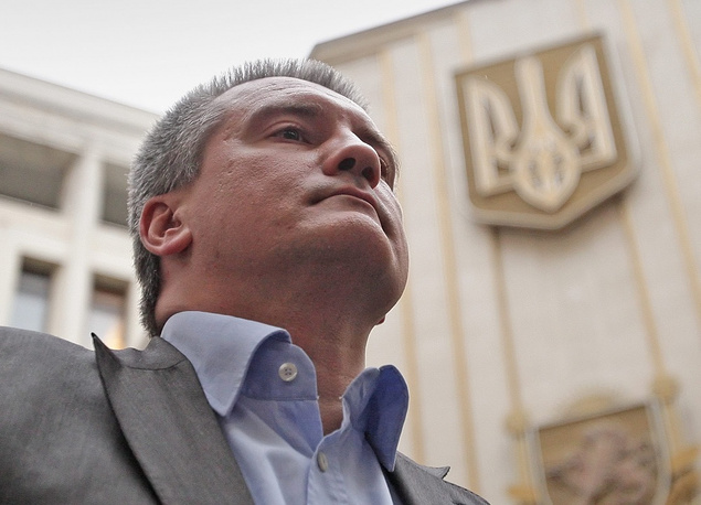 """Crimea's acting head Sergey Aksyonov: """"Luckily, Crimean enterprises will not suffer under these sanctions as they weren't trading with western countries. There is no direct economic impact."""""""