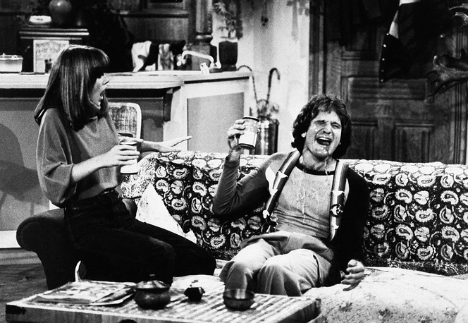 Robin Williams and Pam Dawber in the TV series 'Mork and Mindy'