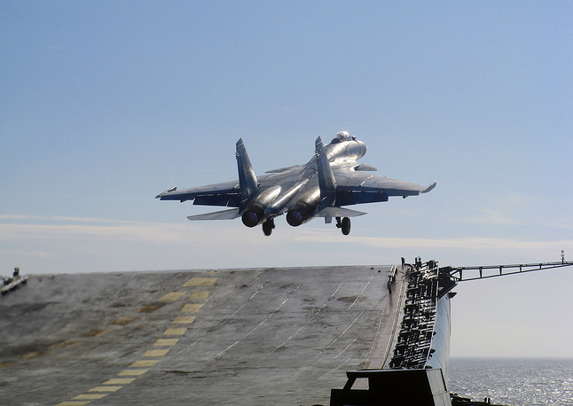 Carrier aircraft must be sturdy enough to withstand demanding carrier operations. They must be able to launch in a short distance and be sturdy and very flexible to stop on a pitching deck. The Sukhoi Su-33 is the main jet of Russia's naval aviation