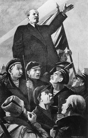 A TASS window poster by Nikolai Denisovsky, 1943