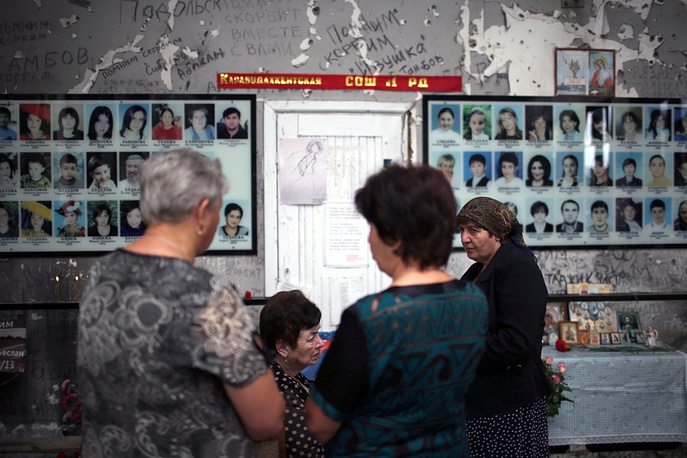 September 1, 2014, Remembrance Day for victims of the terrorist attack on a school in Russia's Beslan