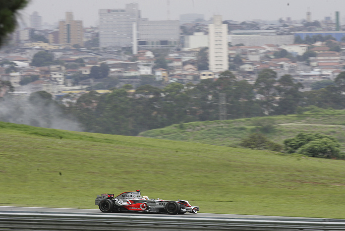 Photo: Interlagos circuit in Sao Paulo, Brazil, October 31, 2008