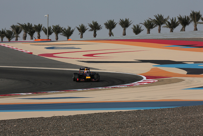 Photo: Bahrain International Circuit in Sakhir, Bahrain, April 9, 2014