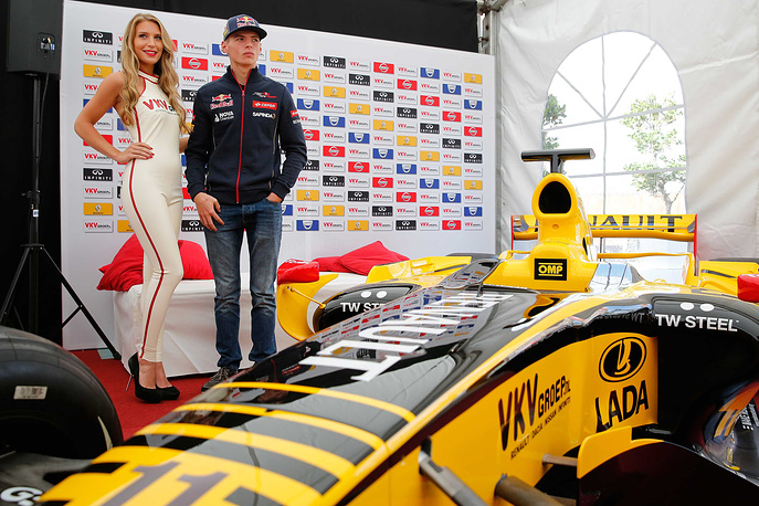 16-year-old Dutch racing driver Max Verstappen. He will become the youngest Formual One driver in history when he competes for the Scuderia Toro Rosso in next year's Formula One World Championship
