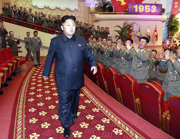 Born January 8, 1983, Kim Jong Un assumed the office of the Supreme Leader of North Korea in 2011, following the state funeral of his father, Kim Jong Il. Photo: Kim Jong-un arrives for a performance by a national choir at a theater in Pyongyang, North Korea, 27 July 2014