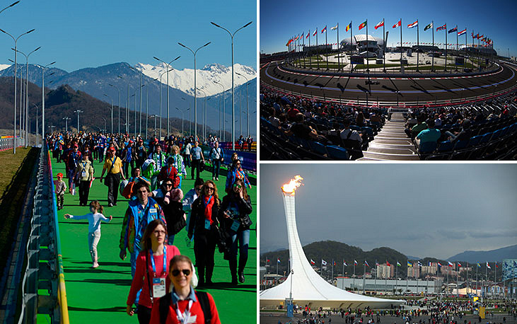 The Fisht stadium was built for the Winter Olympic Games in Sochi in 2014. During the FIFA World Cup it will offer 47,659 seats. It is located in Sochi Olympic Park and named after Mount Fisht