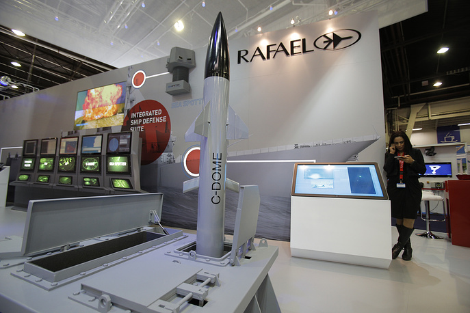 A model of Israeli weapon company Rafael' C-Dome