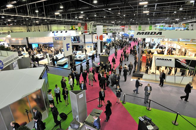Visitors of Euronaval 2014 international arms show