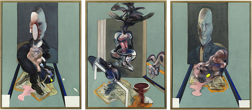 "Francis Bacon's painting ""Triptych, 1976"" was bought for $86.2 million at Sotheby's auction by Russian billionaire Roman Abramovich in May 2008"