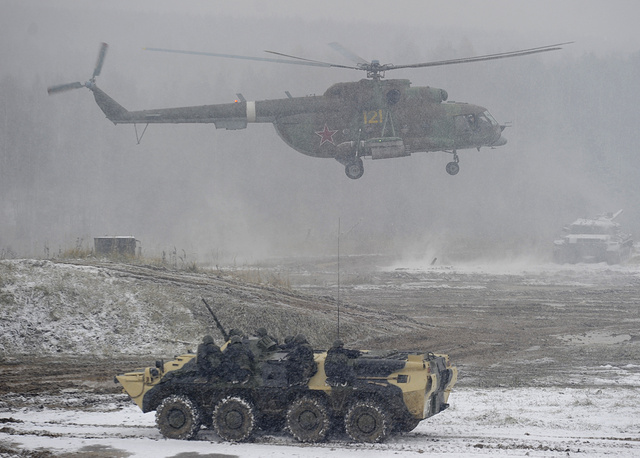 Mi-8 is a Soviet-designed medium twin-turbine transport helicopter. It is among the world's most-produced helicopters