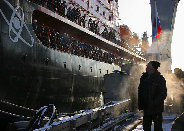 50 Let Pobedy (50 Years of Victory) constructed by the Russian shipyard Baltiysky Zavod is world's biggest nuclear-powered icebreaker. Photo: 50 Let Pobedy icebreaker