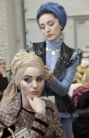 Backstage at the 2014 Grozny Fashion Week