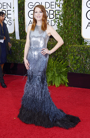 US actress Julianne Moore won Best actress - drama at 2015 Golden Globes for her role as Dr. Alice Howland in 'Still Alice'