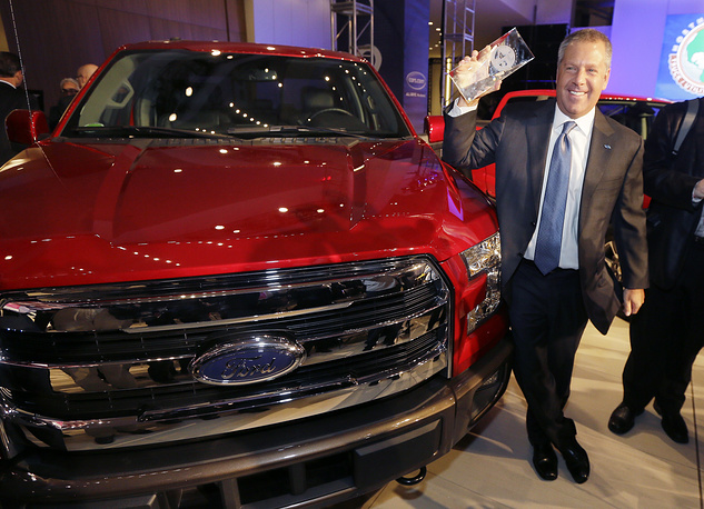 Ford F-150 truck after winning the North American Truck of the Year during the North American International Auto Show