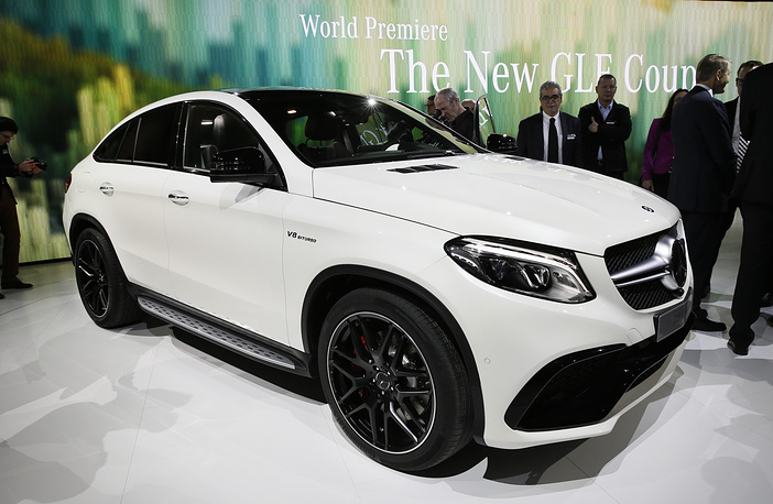 Mercedes-Benz GLE Coupe unveiled at media previews for the North American International Auto Show