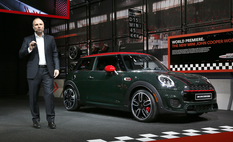 Jochen Goller, Senior Vice President, Mini, introduces the John Cooper Works hardtop