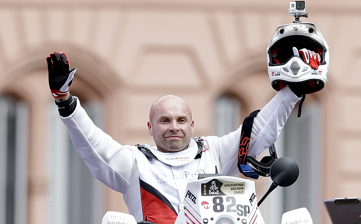 Polish motorbike rider Michal Hernik who died during the third stage of the race between San Juan and Chilecito, Argentina