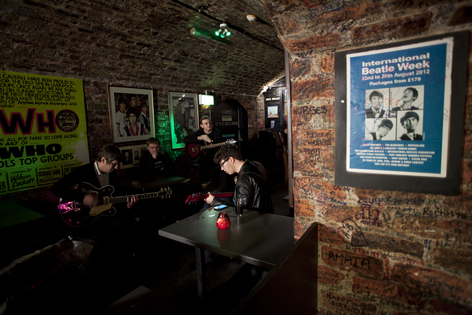 Cavern club in Liverpool, where The Beatles debuted in 1957