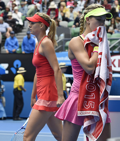 Maria Sharapova defeated Eugenie Bouchard 6-3, 6-2