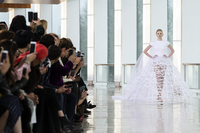 Stephane Rolland's fashion show during the Paris Fashion Week