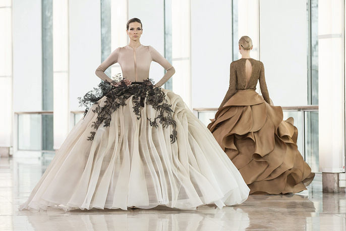 Spring-Summer 2015 Haute Couture collection by French designer Stephane Rolland