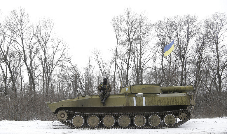 Ukrainian troops near Debaltseve