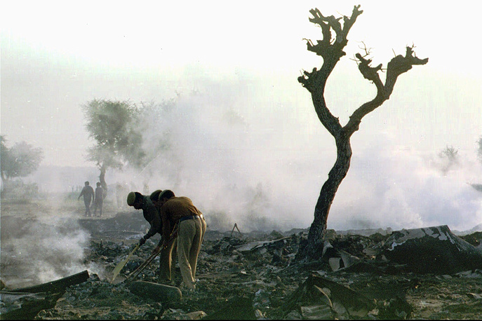 Charkhi Dadri mid-air collision occurred on 12 November 1996 over the village of Charkhi Dadri, India. Saudi Arabian Airlines Boeing 747-100B en route from Delhi to Dhahran and a Kazakhstan Airlines Ilyushin Il-76 en route from Chimkent to Delhi collided. 349 people on board of both planes were killed