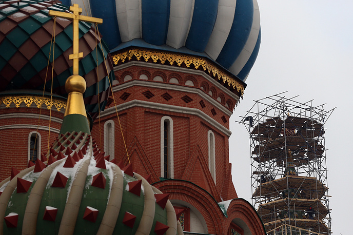 St. Basil's Cathedral and Spasskaya Tower of Moscow Kremlin