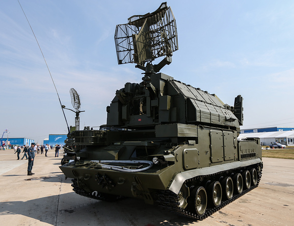 Tor missile system is a short-range surface-to-air missile system. Photo: Tor-M1 missile system on display at the 2nd International Exhibition Oboronexpo-2014