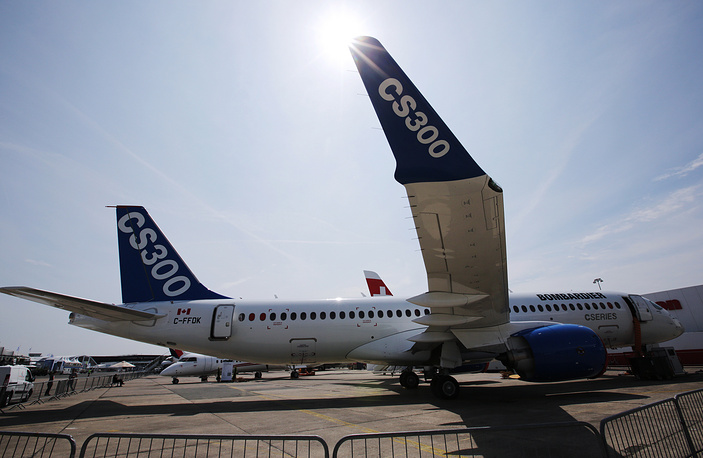 A new Bombardier CS300 aircraft